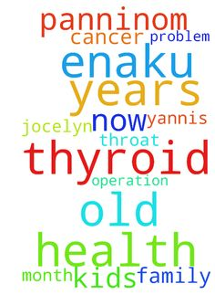Please pray for my health enaku thyroid - Please pray for my health enaku thyroid cancer operation 3 years before panninom now i have some problem in my throat i have 2 kids jocelyn 2 years old and yannis 9 month old please pray for me and my family  Posted at: https://prayerrequest.com/t/Tfr #pray #prayer #request #prayerrequest