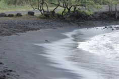 Black sand beach in Hawaii... such an amazing site to see!