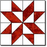 """Diamond Star block tutorial. This makes a 12"""" block, and has been around since about 1896."""