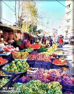 #Saidon fruits market سوق الفواكه ب #صيدا