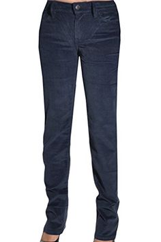 Calvin Klein Womens Power Stretch Straight Leg Slim Fit Corduroy Pants 2x34 Eclipse Blue -- Read more at the image link.