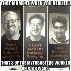 For Mythbusters' Fans if only you watch the show on their first appearance and they say so