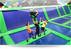 Rebounderz (Sterling, VA) - Indoor trampolines, where you can purchase 1 hour sessions or books for a party.
