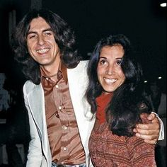 George Harrison and Olivia Arias-Harrison George Harrison, Olivia Harrison, The Beatles Live, John Lennon Beatles, Paul Mccartney, Beverly Hills, Liverpool, Rock And Roll, Phil Collins