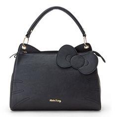cb5d63549b Sanrio Hello Kitty Face Leather Tote Bag Women Satchel Bag Black GKHK018  for sale online