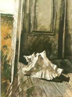 Front Door, Andrew Wyeth Andrew Wyeth Paintings, Andrew Wyeth Art, Jamie Wyeth, Watercolor Landscape, Watercolor Art, Bunny Painting, Magic Realism, Virtual Art, Amazing Paintings