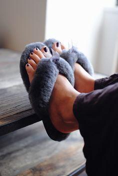 UGG Australia's sheepskin flip flop for women - the #Fluff Flip Flop II #Fall