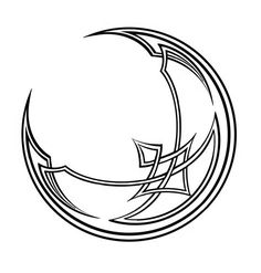 Crescent Moon Celtic Tattoo Design