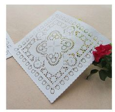 mobile site-Free shipping 200pcs/ lot Wholesale 10 inch White Square Paper Lace Doilies paper doily placemats wedding party decoration -------tacky?
