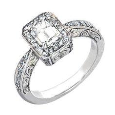 Amazon.com: 0.75 Ct Antique Style Diamond Cocktail/Engagement Ring Platinum: Jewelry