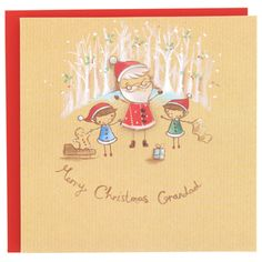 grandad cute Christmas card at Paperchase