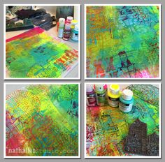 Be Brave Art Journal Page and Stampendous Giveaway