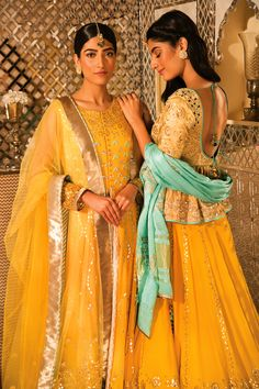 Yellow Lehenga and Anarkali