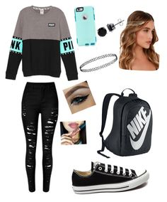 """""""Untitled #18"""" by jaysen-martin on Polyvore featuring Converse, NIKE, OtterBox, Lulu*s, BERRICLE, women's clothing, women, female, woman and misses"""