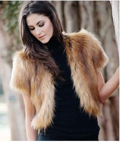 "Northern Fox Foxy Cropped Faux Fur Jacket. Take a shortcut to style with an 18"" cropped jacket that works with everything from jeans to jewels. For more pics go to: www.imageshack.com"