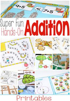 super fun, hands-on addition printables for learning. I'm always adding more, so be sure to pin this post for easy reference!