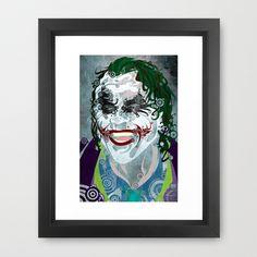 The Clown Prince 08 Framed Art Print by Joshua A. Biron - $30.00