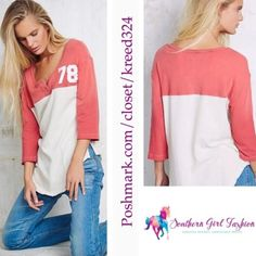 """FREE PEOPLE Pullover T-Shirt Tunic Graphic Tee Top Size Small. New with tags. $68.00   Super soft and stretchy athletic inspired 3/4 sleeve featuring number graphic on bust.  Optional button closure at neck.  Loose fitting with partial raw trim.   Measurements for size Small: Bust: 37"""" Length: 28.5"""" Sleeve: 14.6""""   ❗️ Please - no trades, PP, holds, or Modeling.   ✔️ Reasonable offers considered when submitted using the blue """"offer"""" button.    Bundle 2+ items for a 20% discount!    Stop by my…"""