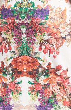 digital mirrored floral