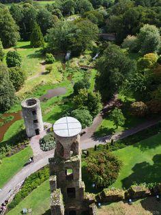 Looking toward the Rock Close from atop Blarney Castle. Ireland travel tips | Ireland vacation |IrelandFamilyVacations.com