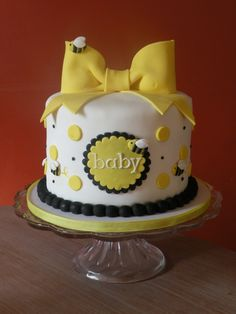 Adorable Bumble Bee Cake - Baby Shower