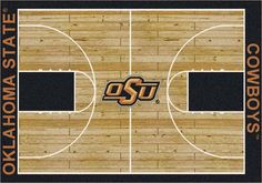 """Oklahoma State Cowboys 7' 8"""" x 10' 9"""" Home Court Area Rug"": Get in the Game with this NCAA Oklahoma… #Sport #Football #Rugby #IceHockey"