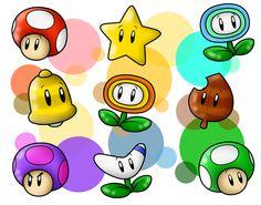 Random Mario's Power-Ups 1 by SuperLakitu on deviantART
