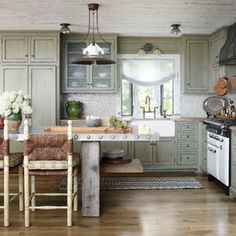 Rustic AGA Legacy kitchen by Jessica Jubelirer Design