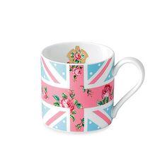 Royal Albert Vintage Union Jack Mug in Cheeky Pink