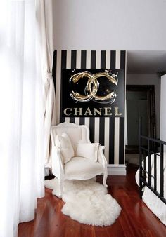 CoCo Chanel Chanel Art Print on Canvas Coco Fashion Art Chanel Wall Art Ready to Hang Canvas Art Black and Gold Colors Noir Chanel Chanel Room, Chanel Wall Art, Chanel Decor, Chanel Art, Coco Chanel, Chanel Canvas, Couple Bedroom, Small Room Bedroom, Bedroom Decor