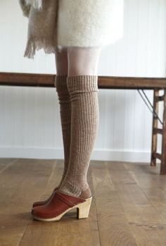clogs and knee socks