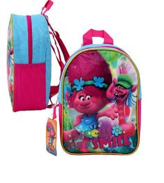 Dreamworks Trolls Show Me Smile Mini 10' Toddler Backpack-68153 -- More info could be found at the image url. (This is an Amazon Affiliate link and I receive a commission for the sales)