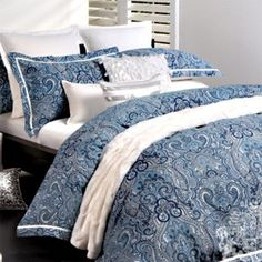Quilt Covers : Ashara Blue | Designer Direct
