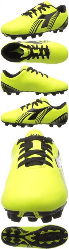 3e75fd4738a6 Diadora Soccer Avanti MD JR Soccer Shoe (Toddler/Little Kid/Big Kid),Fluorescent  Yellow/Black,5 M US Big Kid