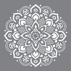 Americana Decor-stencil-Mandala-12 X 12Decoart di VCraftSupply