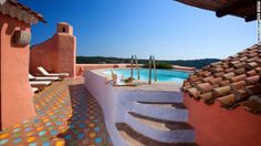 Billed as one of the most gorgeous suites in the world, the three-bedroom luxury pad in Hotel Cala di Volpe's Presidential Suite stands above the rambling towers and pantile roofs of the luxury Porto Cervo resort in Sardinia, Italy.
