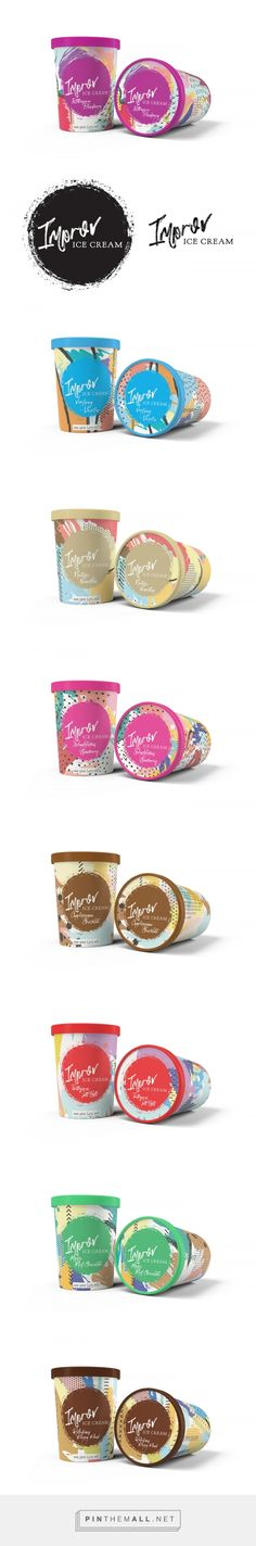 Improv Ice Cream by Brandy Stewart. Source: Behance. Pin curated by #SFields99 #packaging #design #inspiration #branding #icecream #tub