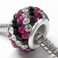 Fashion Crystal Silver Plated Charms European Beads for Bangle Charm Bracelets | eBay