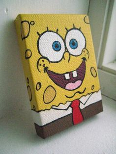 Painted SpongeBob Magnet on Etsy, $7.00