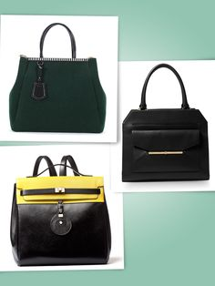 1d807781df16 Clockwise from left to right Fendi green wool bag