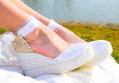 CAROLINE Platform Lace and Satin Espadrilles by IBIZENCASshoes