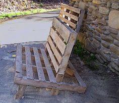 diy pallets chair