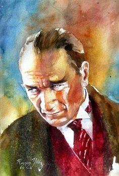 Muhsin Kokturk Tarafindan Ataturk Un Yagli Boya Resimleri Goruntusu Portre