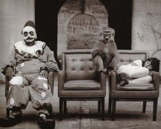 #Circus #Clown #Monkey