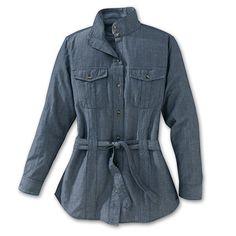 Women's Chambray Long Shirt