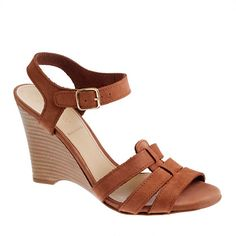 J. Crew ESTHER NUBUCK GLADIATOR WEDGES