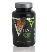 It's Vital supplies your body with all the essential vitamins, minerals, antioxidants, and phytonutrients needed on a daily basis. It's Vital has been formulated using the absolute highest quality ingredients and a patented dissolve technology for the highest effectiveness within the body. Mint-flavored coating.   • Provides vitamins, minerals, & phytonutrients  • Supports overall wellbeing and vitality  • 70+ bio-active, bio-available ingredients  • Superior absorption within the body  • Natural mint coating locks in freshness