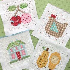 """902 Likes, 54 Comments - @beelori1 on Instagram: """"More 6"""" blocks from my book...they're pot holders or mini's....quilted and ready to be trimmed up…"""""""