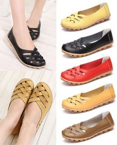 Hollow Out Leather Breathable Casual Slip On Moccasin For Women is cheap and comfortable. There are other cheap women flats and loafers online. Comfy Shoes, Cute Shoes, Comfortable Shoes, Me Too Shoes, Casual Shoes, Loafers Online, Loafers For Women, Shoes Women, Womens Flats