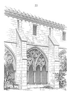 Gothic Architecture Drawing, Cathedral Architecture, Castle Coloring Page, Coloring Pages, Colouring, Architecture Romane, Medieval Gothic, Cool Art Drawings, France